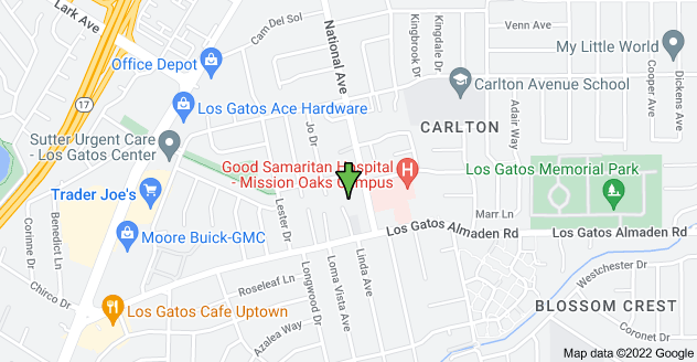 Map of 15415 National Ave, Los Gatos, CA 95032, USA