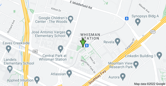 Map of 400 Pacific Dr, Mountain View, CA 94043, USA