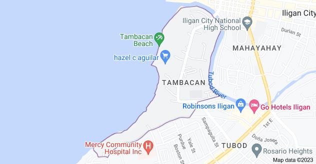 Map of Tambacan, Iligan City, Lanao del Norte