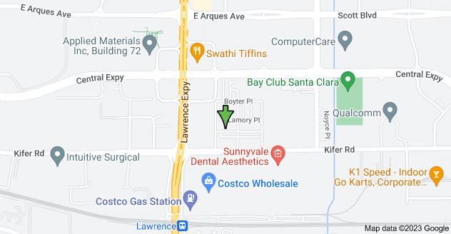 Map of 3505 Kifer Rd, Santa Clara, CA 95051, USA