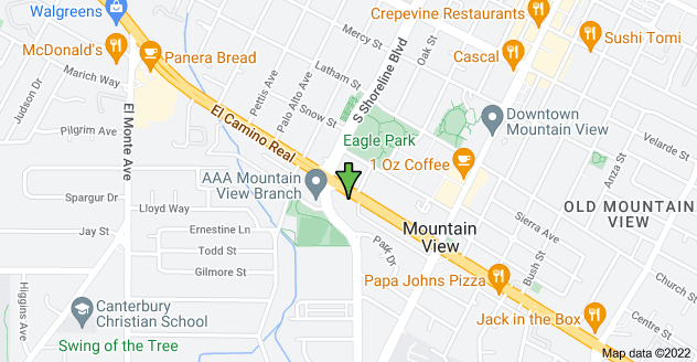 Map of 1101 W El Camino Real, Mountain View, CA 94040, USA